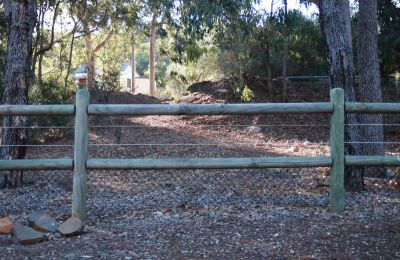 Rual Fence 2 Rail with Black Mesh